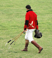 Polo Player Walking