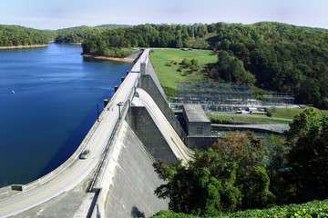 Norris Dam, a hydroelectric dam located in East Tennessee.