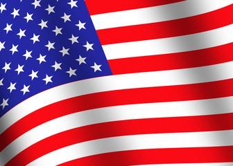 usa flag closeup