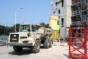 Construction site with a vehicle