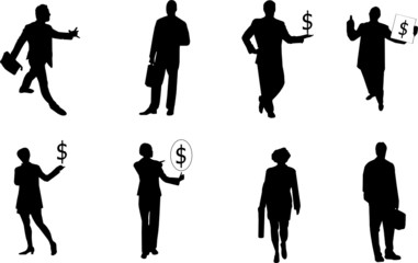 busines silhouettes
