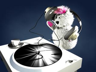 Teddy Bear on Turntable