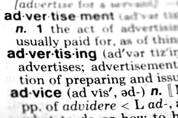 Advertising - Dictionary