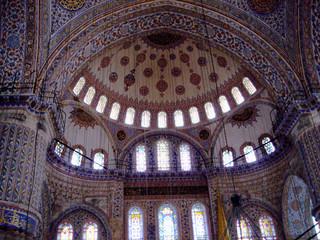 Blaue Moschee (Innenansicht)