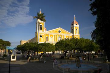 church granada nicaragua colonial town