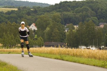 a woman on rollerblades #2