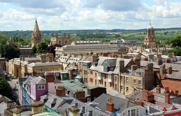 Oxford aerial view, with Tom Tower oc Christchurch College