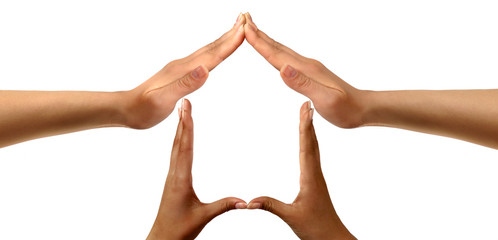 Conceptual symbold home made from hands