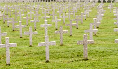 World War One war graves in France - landscape orientation.