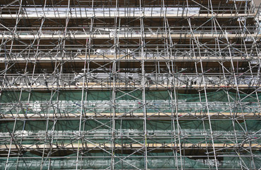 scaffolding along baker street london