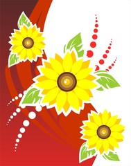 Three flowers background
