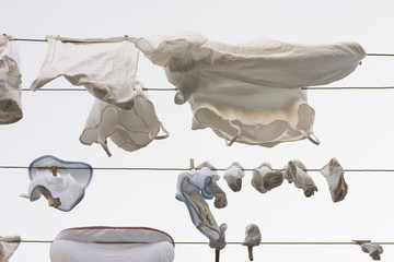 laundry at a clothesline
