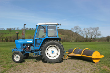 Tractor and Roller