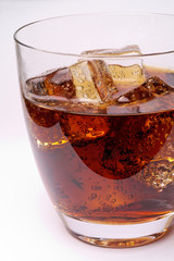 Glass of cola drink with ice (1)