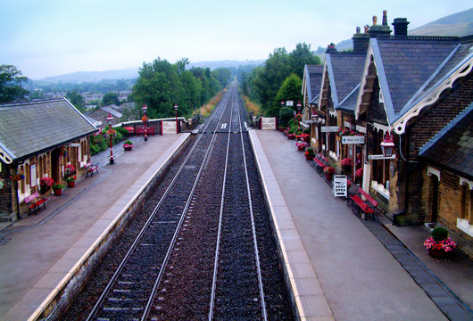 Settle station in North Yorkshire