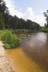 Kayaking on beautiful river