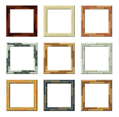 Colorfull picture frames