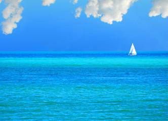 Sailboat on Calm Sea