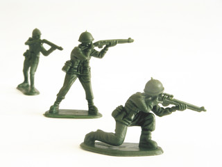 3 Soldiers posed
