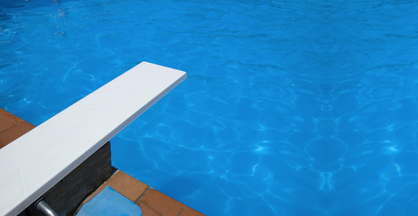 Swimming pool springboard