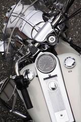 Motorrad von oben