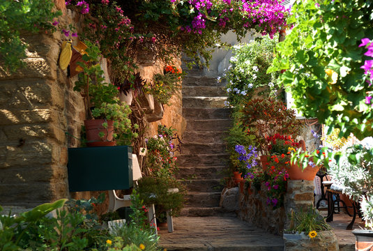 Treppe in Bormes les Mimosas