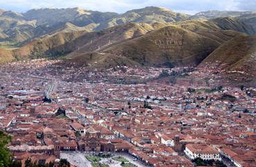 Andes City Cusco in Peru