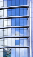 Picture of a Futuristic glass building with reflections