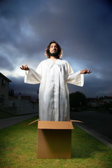 Jesus coming out of the box