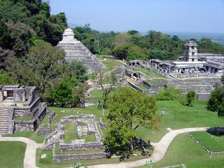 mexique palenque pyramide maya flores yucatan