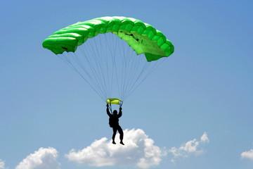 Foto op Aluminium Luchtsport Parachuter and cloud