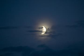 Beautiful half moon