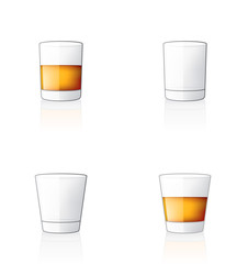 Scotch / Whiskey Glass Icon Set 60w