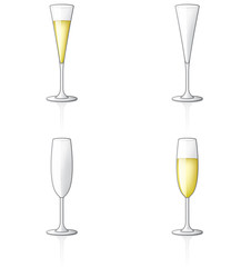 Champagne Glass Icon Set 60t