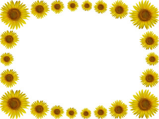 Isolated yellow floral frame