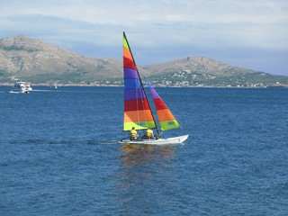dingy sailing