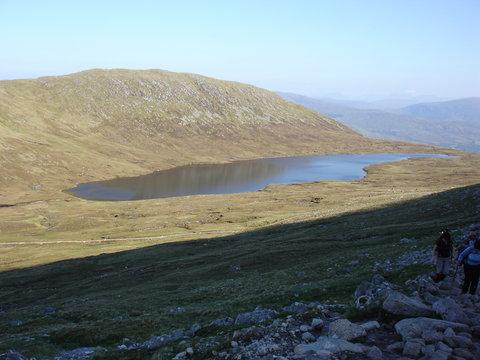 Lake half way up Ben Nevis