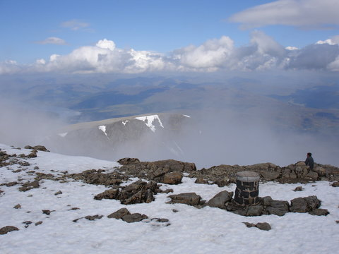 View from the Summit at Ben Nevis