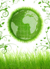Planète terre à feuillage