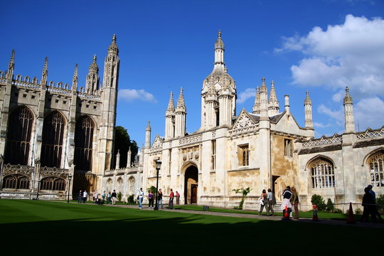 King's college from inside in summer, university of cambridge