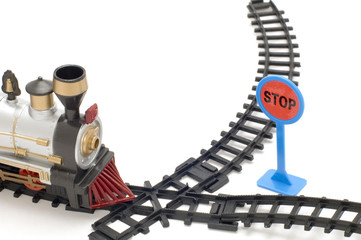 series object on white -toy - child's railway