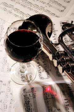 A Glass of Red with a Little Jazz