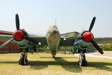 Fototapete - World War II era bomber preserved in Bulgaria