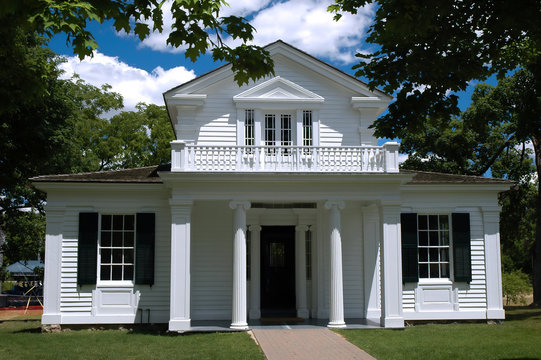 Greek revival style house. Greenfield Village, Michigan, USA