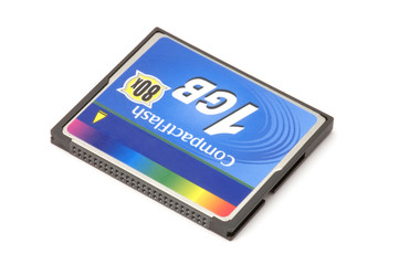 series object on white - Compact Flash memory card