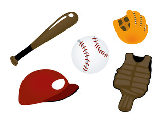 Baseball Icons with Clipping Paths