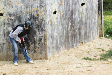 fille paintball
