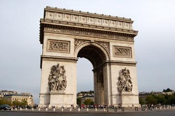 Photo sur Toile Paris Arc de Triomphe