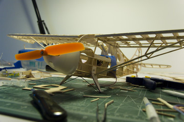 Model airplane construction 2