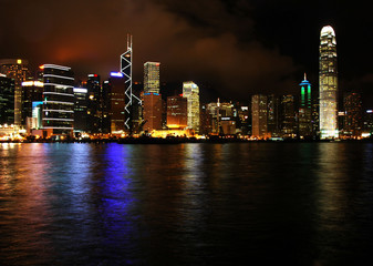 Hong Kong skyline at night (2)
